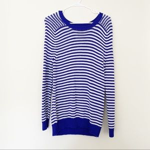 🌵 Blue and White Striped Long Sweater